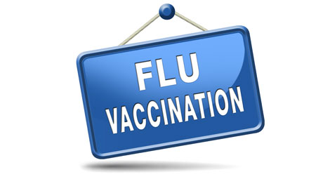 Flu vaccination sign